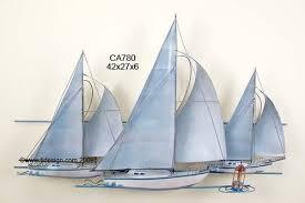 nautical metal wall art image 1 on yacht metal wall art with at the races nautical metal wall art