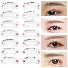 eyebrow shaper template. 24 pcs reusable eyebrow stencil set eye brow diy drawing guide styling shaping grooming template card easy makeup beauty-in underwear from mother \u0026 kids on shaper s