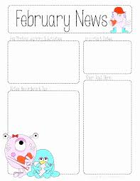 february newsletter template free classroom newsletter templates inspirational 32 luxury