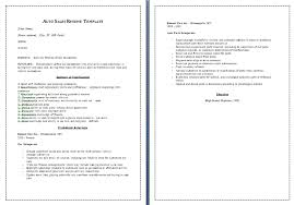 auto sales resume samples sample car sales resumes military bralicious co