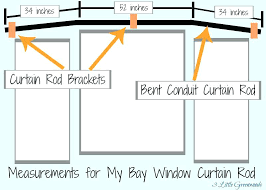 glamorous how to hang curtains in a bay window make curtain rods for your home using