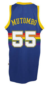 denver jersey. amazon.com : dikembe mutombo denver nuggets adidas nba throwback swingman jersey - blue sports \u0026 outdoors