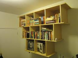 custom made wall hanging bookcase shelves