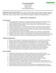 Sample Resume Accounting Musiccityspiritsandcocktail Com