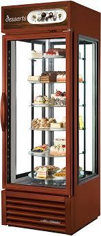 true g4sm 23rgs tsl01 27 4 sided glass door refrigerated merchandiser rotating shelves