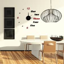 full image for enchanting diy giant wall clock 77 vococal modern diy large 3d wall sticker