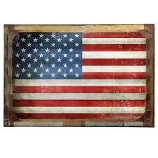 american flag distressed framed corrugated metal sign patriotic decor retroplanet com