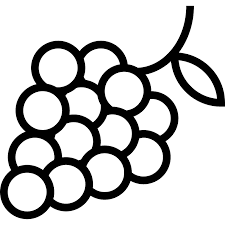 grapes clipart black and white. grapes clipart black and white p