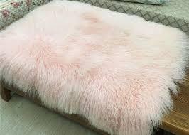 mongolian sheepskin rug home decorative throw long curly lambskin fur plate