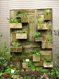 Reclaimed wood vertical garden