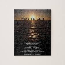 our father prayer jigsaw puzzle on puzzle into wall art with our father prayer jigsaw puzzle zazzle