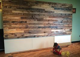 pallet wood wall. distress wood create faux pallet wall time project a