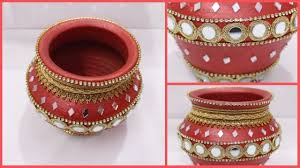 How to Decorate Pot at home I Matki decoration I Indian Festival I Creat.