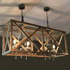 long rectangular chandelier wood chandelier large wooden chandelier with metal and crystal clarissa glass drop extra