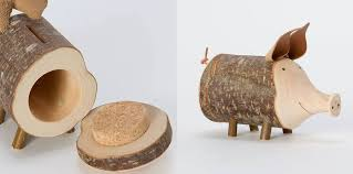 this wooden piggy bank looks really unique and nice take the help of you s
