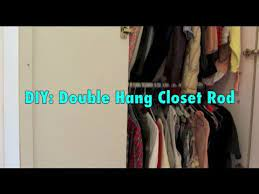 diy double closet rod hanger you