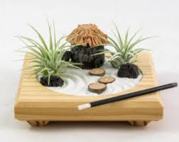 zen garden furniture. Miniature Zen Garden By Midnight Blossom Made From Repurposed Pine Featuring Living Air Plants Furniture H