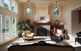 Featured Image of Comfortable Craftsman Living Room With Rustic Fireplace
