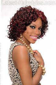 curly hairstyle with crochet braids