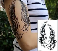 B Top Voděodolné Dočasné Tetování Motiv Andělská Křídla Glamicz