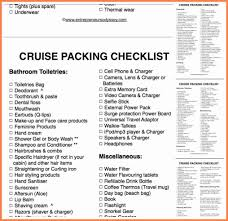 cruise packing checklist pdf invoice example  related for 10 cruise packing checklist pdf