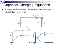 capacitor charging equations lesson 15 capacitors transient ysis ppt