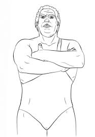 Small Picture WWE Andre the Giant coloring page Free Printable Coloring Pages