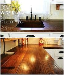 easy wood countertops easy tutorials to revamp your kitchen wood plank kitchen s easy wood countertops