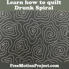 The Free Motion Quilting Project: How to Quilt Drunk Spiral #468 & Learn how to quilt Drunk Spiral in a free quilting tutorial with Leah Day Adamdwight.com