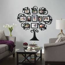 image is loading family tree collage photo picture frame set black  on tree photo collage wall art with family tree collage photo picture frame set black home wall art