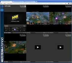 use multistream to stream several twitch tv streams at once