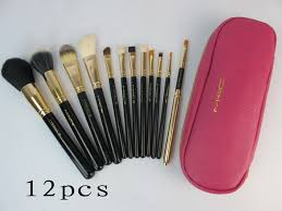whole mac cosmetics professional 12 pcs brush set with pink case