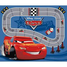 disney lightning mcqueen racetrack rug