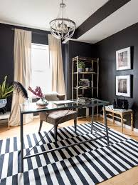 office black. Home-office-black-walls-modern-glam-splendor-styling- Office Black R