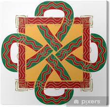 Obraz Ozdobený Keltský Uzel Na Plátně