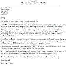 Executive Cover Letters Marketing Executive Cover Letter Example Icover Org Uk
