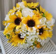 artificial <b>flower</b> wedding bouquet <b>sunflower rose</b> by Wendyslife, £45 ...
