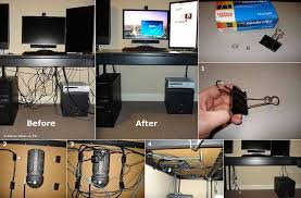 how to hide desk cords wires