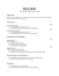 Free Resume Download Templates Resume Template Directory