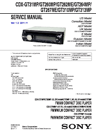 sony cdx gt310 service manual free download Sony Cdx Gt310 Wiring cdx gt260mp, cdx gt262me, cdx gt264mp, cdx gt267me, sony cdx gt310 wiring diagram