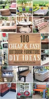 easy outdoor diy furniture ideas