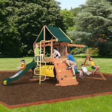 Backyard Discovery Rockin' Adventure All Cedar Swing Set - Free Shipping  Today - Overstock.com - 22753055