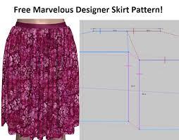 Free Skirt Patterns Enchanting Free Marvelous Designer Skirt Pattern CG Elves
