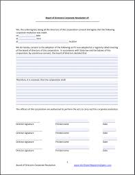 Letter Of Recommendation For Appointment To Board Board Of Directors Resolution Free Template