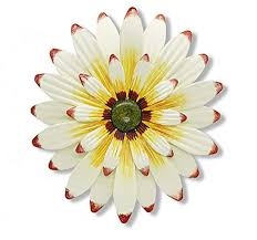 metal flower wall art decoration indoor