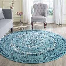 fresh 7 round rug charming ideas evk220e evoke area rugs by safavieh