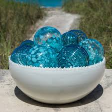 Decorative Glass Balls For Bowls Decorative Glass Coastalinspired Decorative Glass Bowls Vases 3