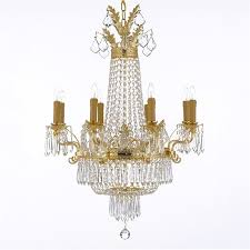 harrison lane french empire crystal chandelier the harrison lane french empire crystal chandelier is truly bold and elegant
