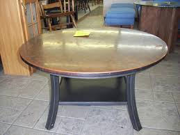 round hammered copper coffee table design