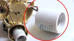 Replace Broken Light Bulb Socket Light Bulb Socket Flickering Quick Easy Fix